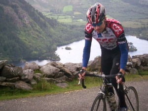 Declan Carey exemplifies the juxtaposition of pain and natural beauty for which cycling is renowned